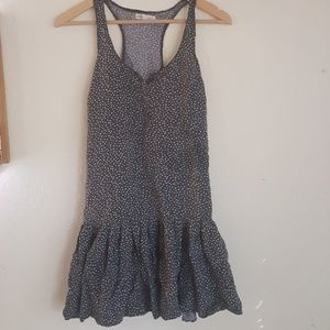 Aeropostale Flowy Ruffled Heart Print Grey Dress
